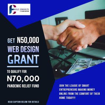 N50,000 Website Design Grant Application